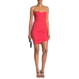 Love By Design Hibiscus Strapless Ruched Dress XL